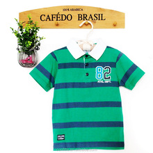 Baby boy summer stripes polo shirt thin cotton short sleeved