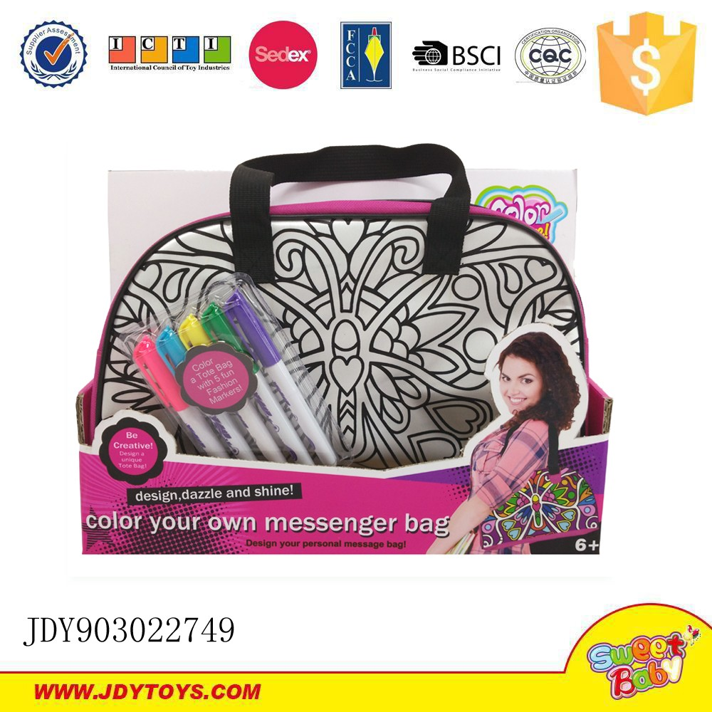 Sweet bee DIY painted backpack color your own backpack with 5 washable colour pen