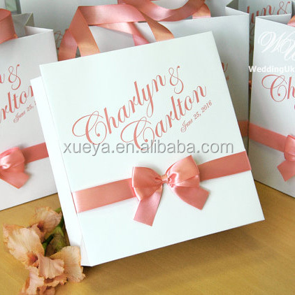 Customized lovely paper boutique wedding gift bag