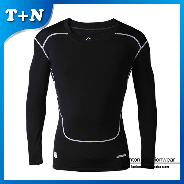 coolmax stretch dry fit women spandex compression shirt