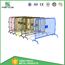 Free Standing Temporary Pedestrian Barricade with Removable Fence Feet