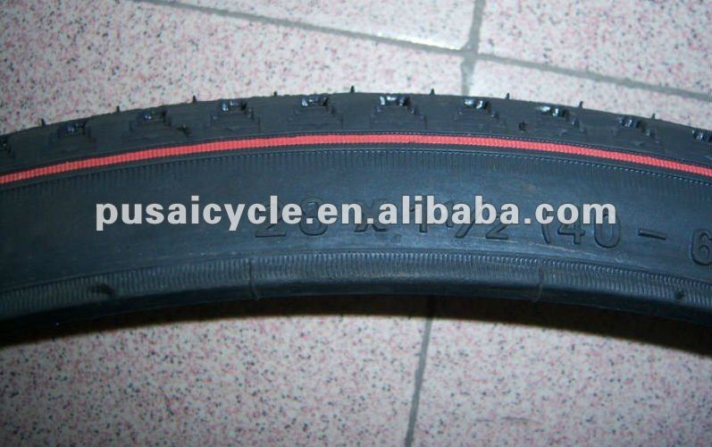 Hot Sell solid rubber bicycle tire With Red Line