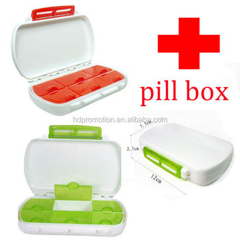 hot sales 7 /14 days plastic Medicine pill box pill cutter