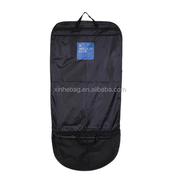 High quality plastic handle gold printing non woven suit cover
