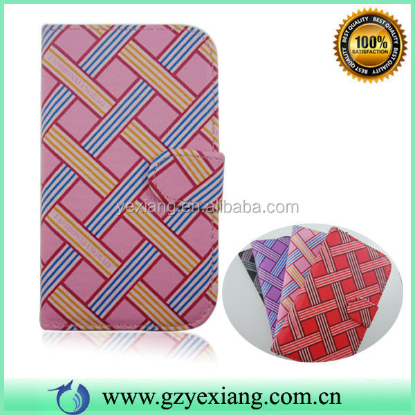 New Arrival Plaid Design Leather Case Cover For BLU Life One M Flip Cover