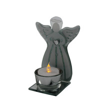 2017 glass angel candle holder tea light