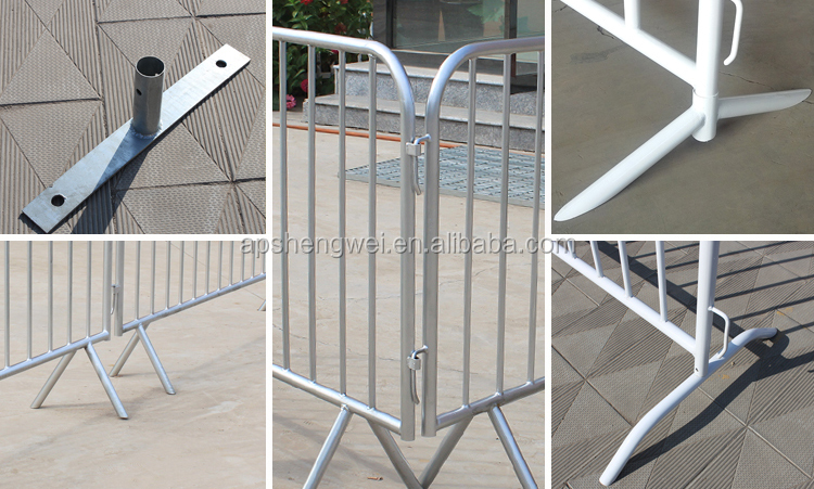 2200x1100 mm Portable Crowd Control Temporary Barrier