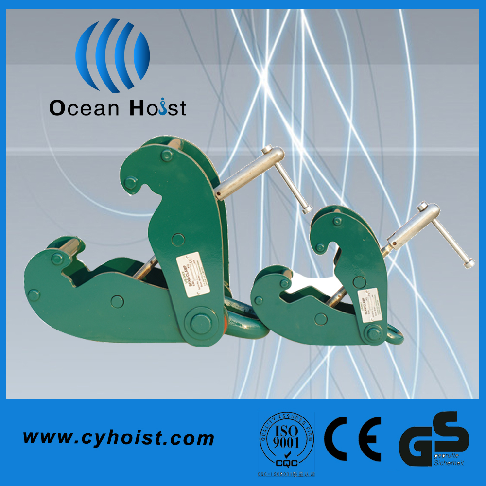 Lifting equipment green hydraulic clamp