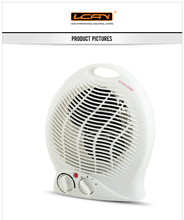 British Standard Easy Home Electric Halogen Fan Heater