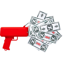 Party Favor Anti Stress Adult Sex Toy Money Gun Cash Cannon with Fake Money