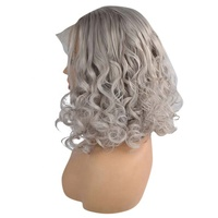 Popular for the market water wave gray lace front wigs gray grey lace front wigs for women