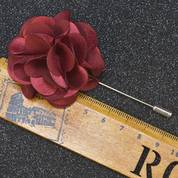 Return Gifts Satin Fabric Brooch Making Supplies Men'S Flower Tie Lapel Pin