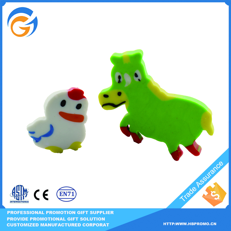 A White Rubber Duck And Green Pony Model