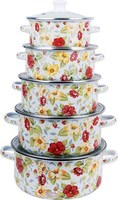 alibaba china new flower enamel kitchenware