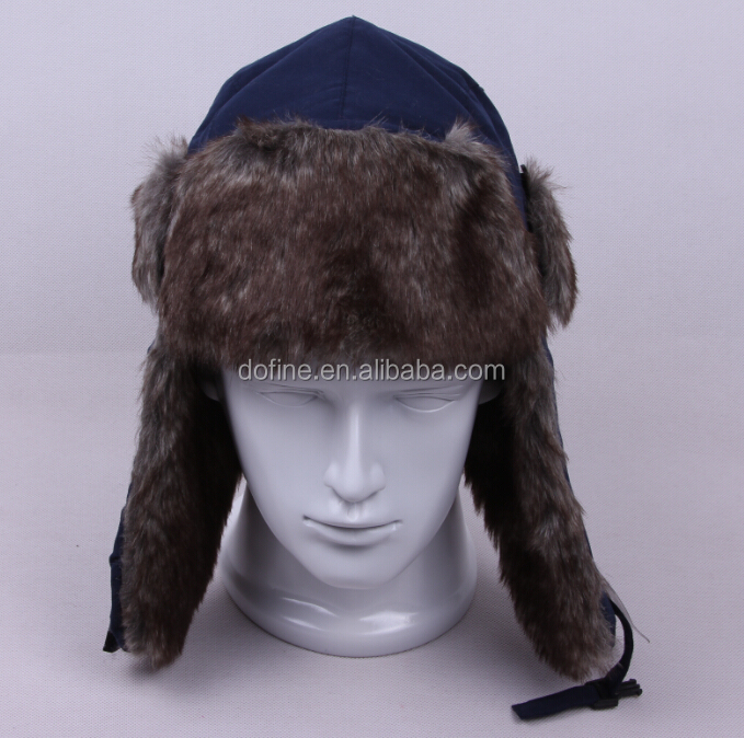 fashion warm winter trapper hat faux fur trapper hat earflap ushanka russian hat