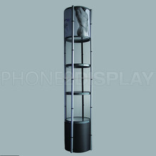40 diameter Aluminium supporting foldable Tower Spiral showcase