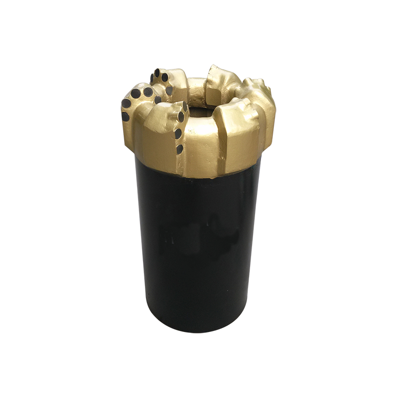 Water well drilling matrix body core drill bits for hard rock