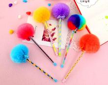 lovely office or school using cute pen with fur