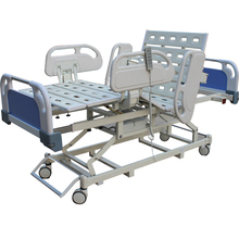 High Quality luxury multi-function patient transfer electric and manual icu nursing bed with toil