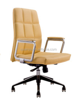 Top sales factory swivel ergonomic chair/ high back yellow leather office chair