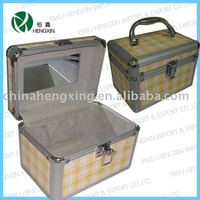 Beauty vanity case with mirror cosmetic jewelry box ISO9001