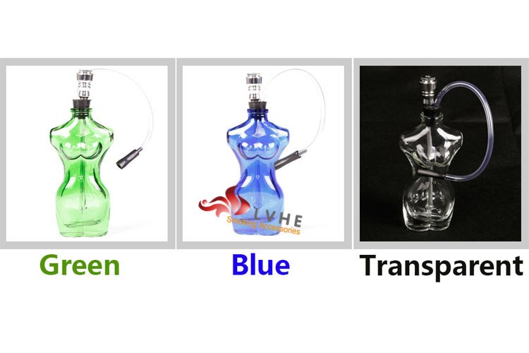 T332PM LVHE Naked Woman Body Smoking Water Pipe Glass Flexible Water Pipe