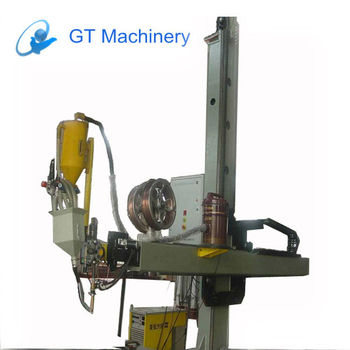 pipe and cylinder column and boom cross welding machine