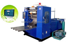 V- fold hand towel making machine with embossing