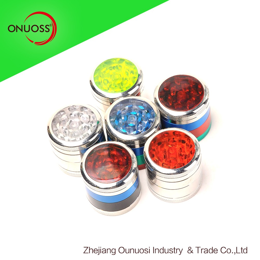 Online 039JA Mixed Candy Color 4 Part Zinc Herb Machine Grinder