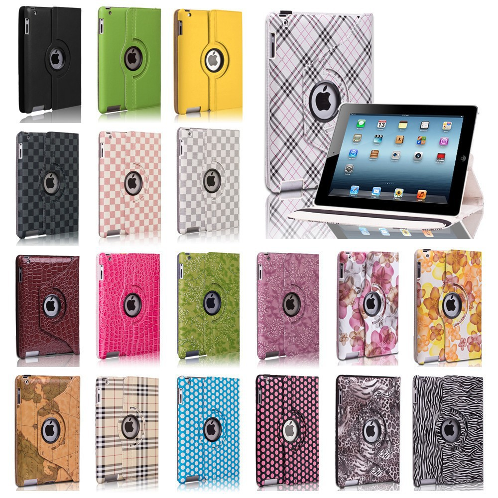 360 degree rotating PU leathre case for apple ipad air 2