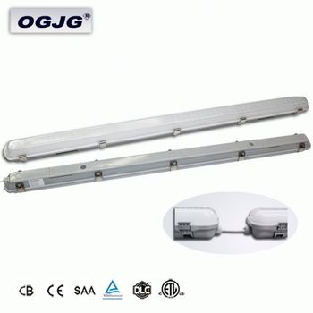 Factory 2ft 4ft 5ft 8ft linkable Led Vapor Tight Fixture Outdoor tunnel IP65 dali dimming Waterproof Projection Lighting