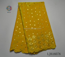 LJ616076- (4) Shiny golden Hot sell new design african velvet lace fabric for girl winter dress