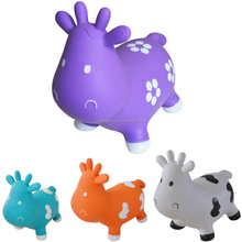 Eco-friendly PVC Inflatable Skippy Rocking Animal Cute Milk Cow