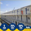 Ark Top Quality Good Price 3 Story Long Lifespan Flatpack Prefabricated Steel Mining Field Construction Buildings