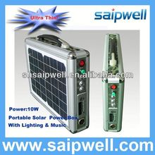 10W SOLAR POWERED GENERATORS WITH LED LIGHTING & MUSIC