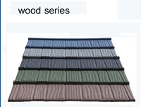 Low price colorful classic stone coated metal roofing tile