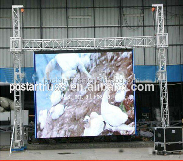 Factory directly 2 legs small stage backdrop truss LED screen Display truss
