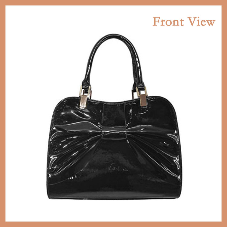 Fashion PU Women Handbag OEM Tote Bag Patent