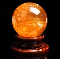 Quartz crystal ball for sale/gemstone sphere 14.1CM