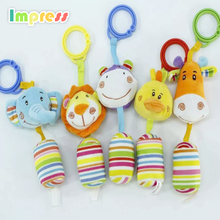 High quality wholesale handmade animal soft educational plush toy with baby pull string musical plush stuffed toy