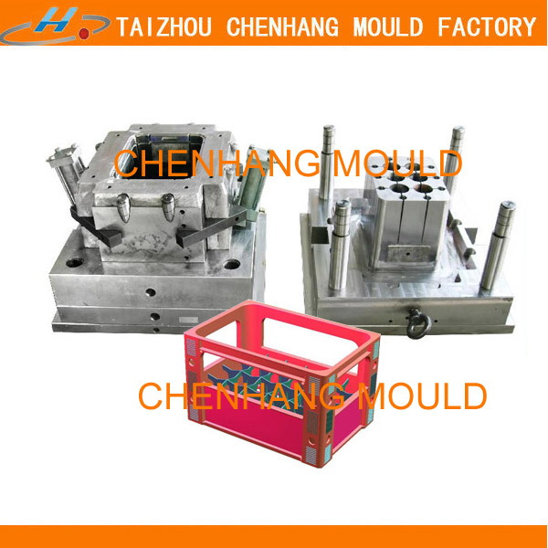 2014 new design plastic beer bottle crate injection mould