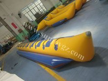 new pvc inflatable banana boat inflatable beach float boat
