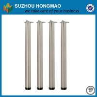 Stainless steel height adjustable round tube removable garden table legs