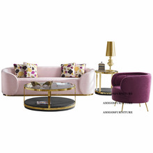 luxury <strong>furniture</strong> and italian style living room <strong>furniture</strong> foshan rest chair steel frame Sofa Set