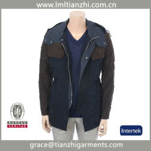 High Quality Custom Men's waterproof Outdoor warm Jacket with hood