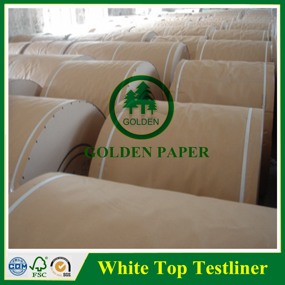 white top testliner kraft paper board for packaging and printing