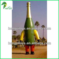 2014 Top Sale Inflatable Champagne Bottle And Balloons