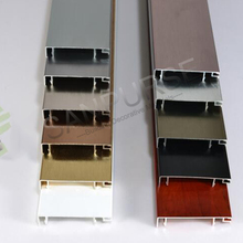 60mm 80mm 100mm Professional manufacture aluminium brushed skirting baseboard