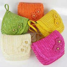 HANDICRAFT WHEAT STRAW CLUTCH BAG