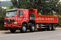 HOWO red CNG DUMP TRUCK,8*4